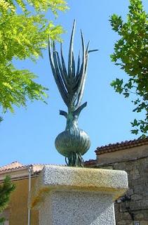 Cebolla estatua