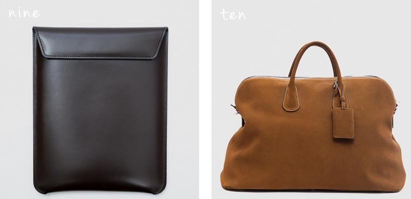 Pinetti iPad Holder // Valextra Suede Travel Bag