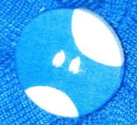 botón forrado con retal y cosido