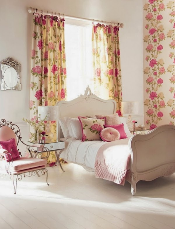 Merveilleux ... Something More Useful, Here You Will See Bedroom Wallpaper With Various  Floral Decoration, Perhaps One Of These Bedrooms Can Inspiring...check It  Out!