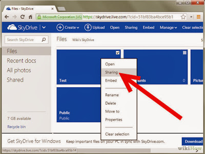 Cara Back Up File Menggunakan Hotmail Skydrive