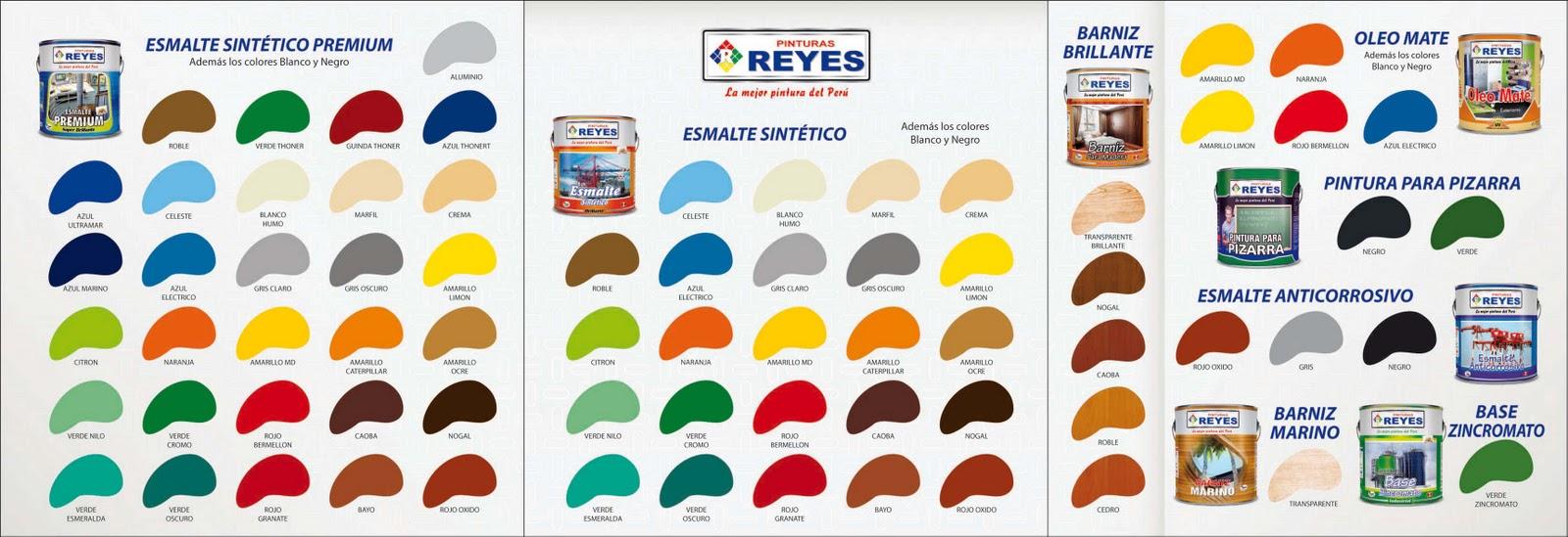 Catalogo de colores esmaltes pinturas reyes arte dise o y publicidad - Catalogo pinturas bruguer ...