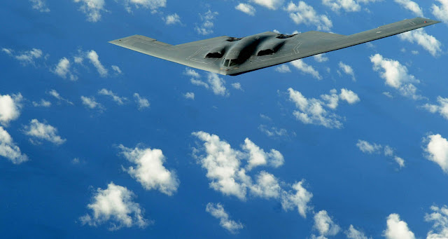 B-2 Spirit above clouds