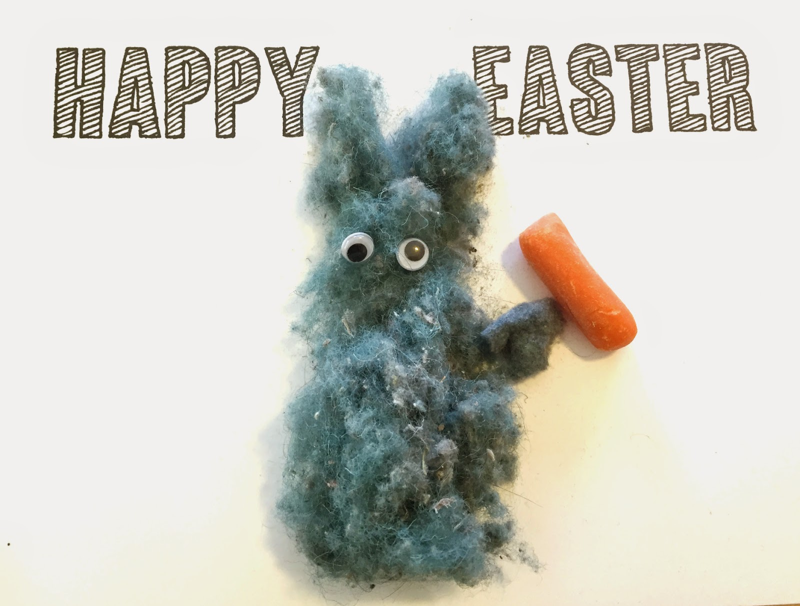 Smart way to reuse vacuum fuzz! Cute easy Easter craft, and the kids can help! #clevernest #easterbunny #springcraft