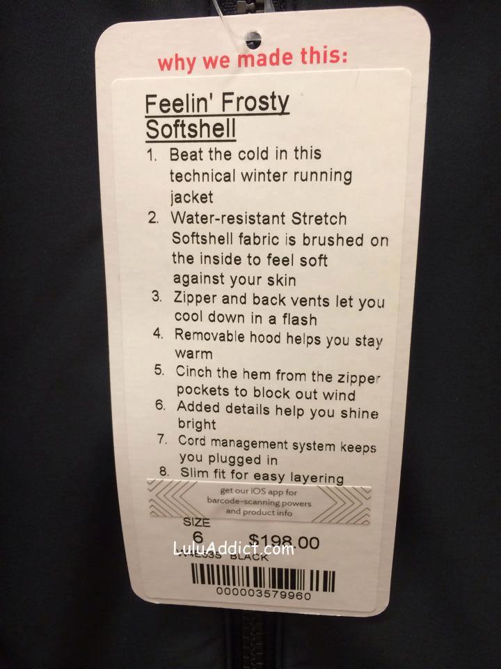 lululemon feeling frosty softshell
