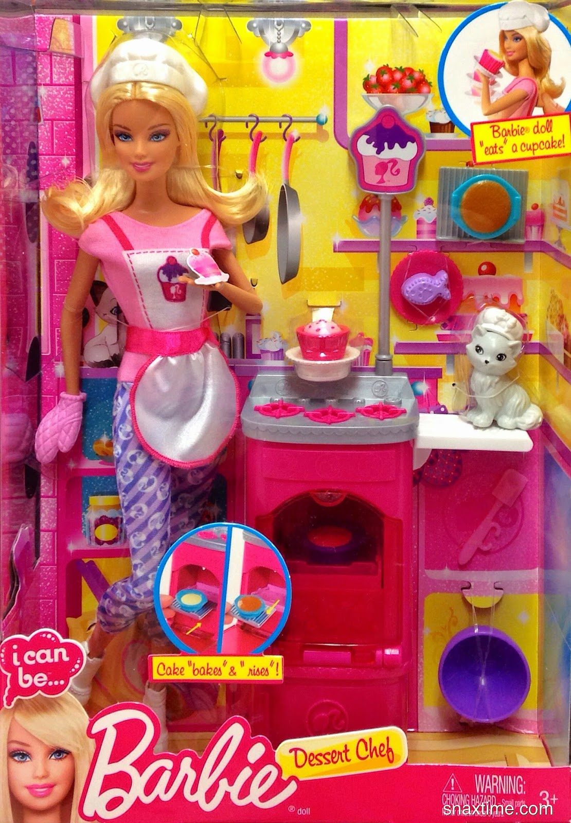 Barbie I Can Be Dessert Chef Playset 2013 Baking