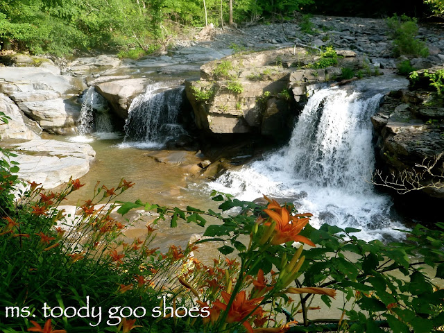 Waterfall: The Waterfall House Niobe Falls NY  by mstoodygooshoes.blogspot.com