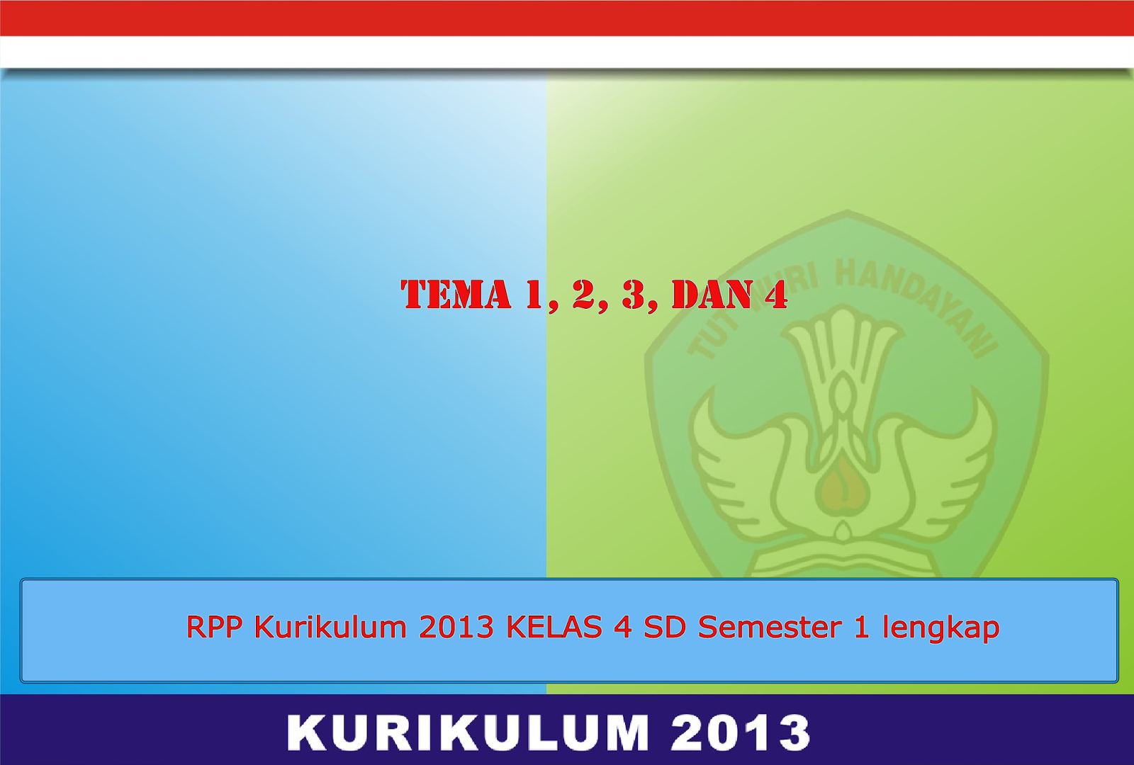 Download Rpp Kurikulum 2013 Lengkap Kelas 4 Iv Sd Semester 1 Terbaru Sharing Operator Sekolah