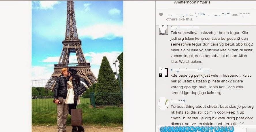 Rozita Che Wan dan Zain Saidin Bercium di Paris.