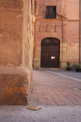 Doorway of Santa María la Real monastery in Nájera