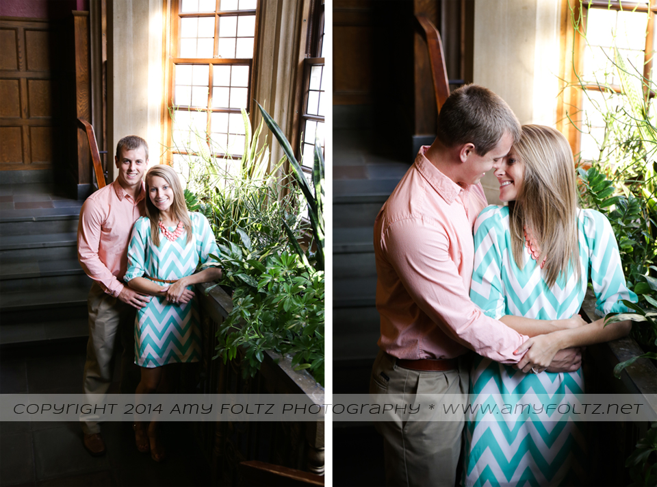 engagement photos at Purdue University's Student Union