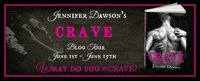 http://jenniferdawsonauthor.com/2015/06/01/crave-by-jennifer-dawson-release-day-and-tour-launch/