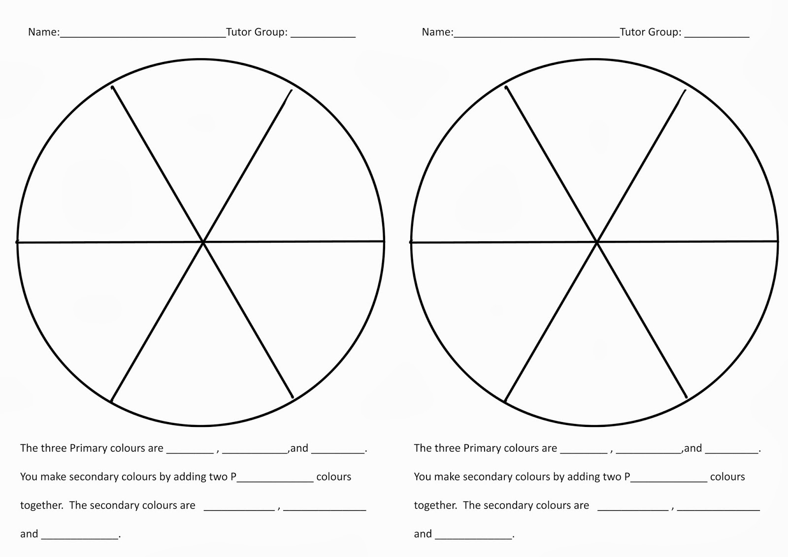 Color wheel worksheets for elementary - Art Color Theory Worksheet Color Wheel Worksheets Printable Colour Mixing In Year Herringthorpe Junior School