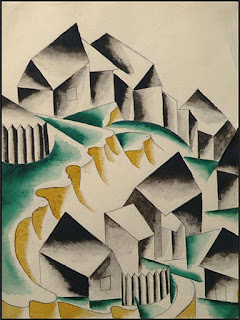 Houses by Lyubov Popova 1914