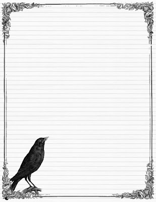 Sweetly Scrapped: ~Free~ Stationary with Crows and Roses, Variety of ...