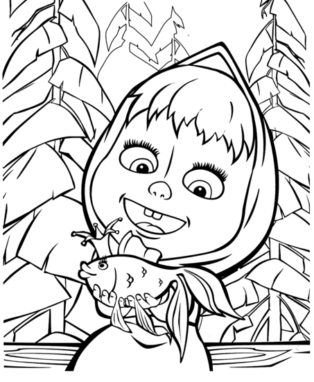 Masha And Bear Coloring Pages Printable