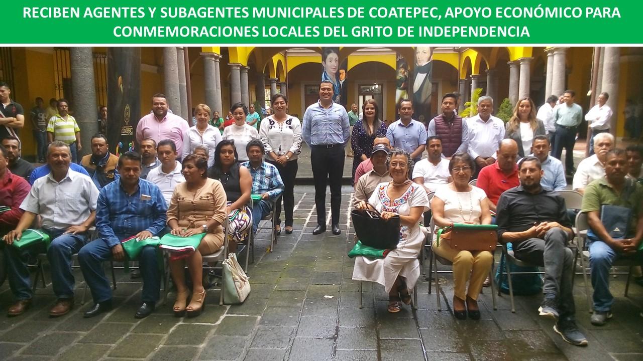 PARA CONMEMORACIONES LOCALES DEL GRITO DE INDEPENDENCIA