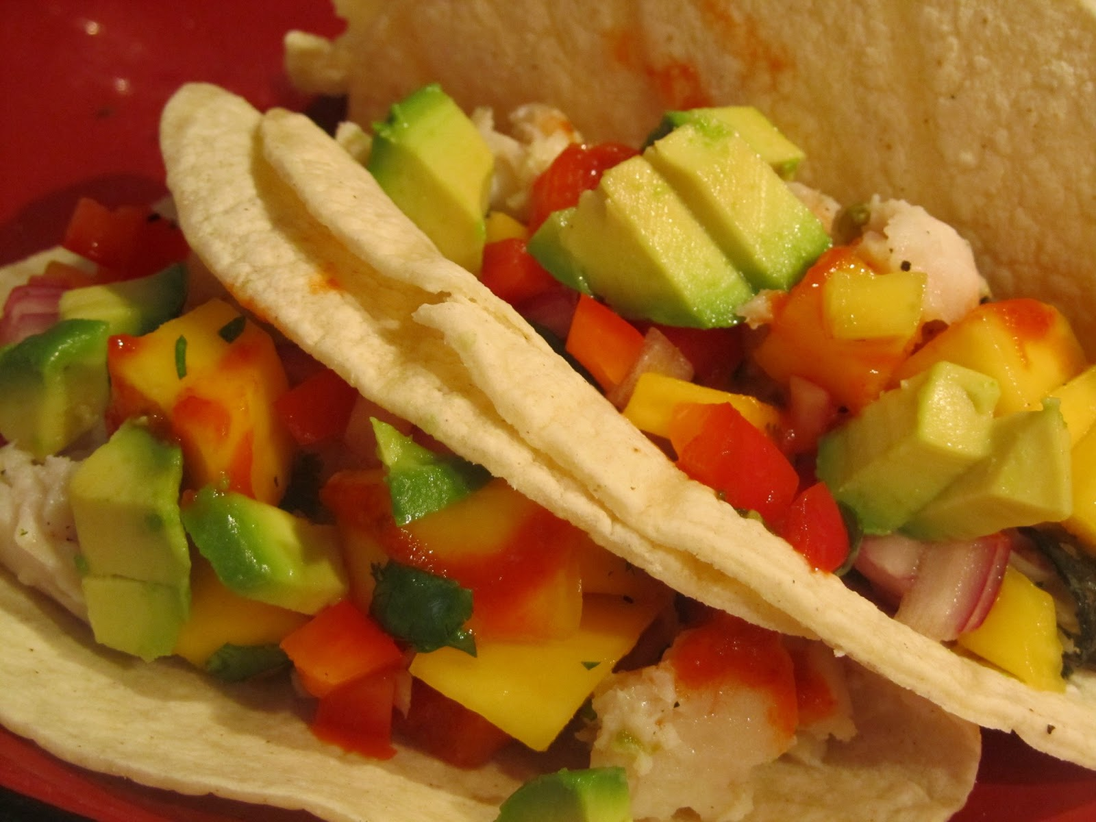 Terracotta caf fish tacos with mango salsa for Fish tacos with mango salsa