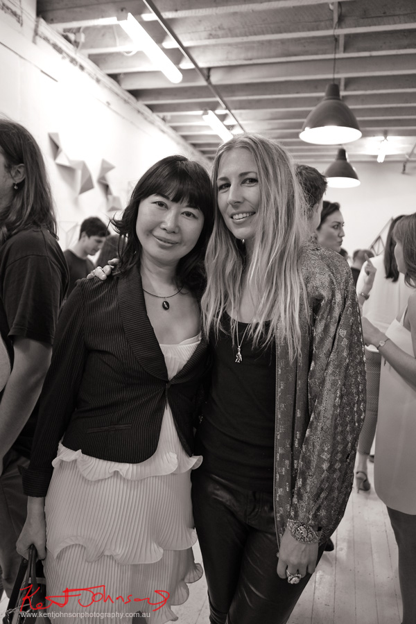 Blogger Vivienne Shui with Jeweller Sofia Fitzpatrick at Heavy Weather. Photographed by Kent Johnson for Street Fashion Sydney.