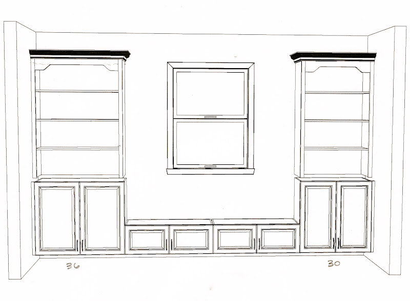 And this was a sketch that Laura drew up for us at Home Depot. -. Built In Bookshelves  Plans IDI Design ... - Built In Bookshelves Plans IDI Design
