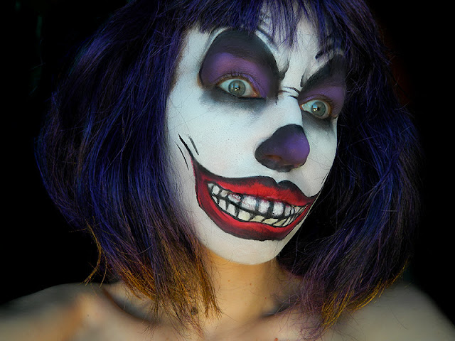 tuto halloween clown mal fique jenni dans tous ses tats. Black Bedroom Furniture Sets. Home Design Ideas