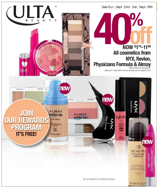 Cotton Candy Blog: ULTA 40% Off All Cosmetics From NYX