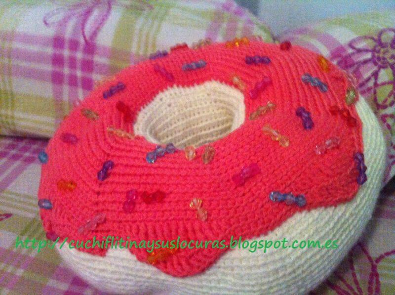 cuchiflitina y sus locuras: Donut cojin crochet