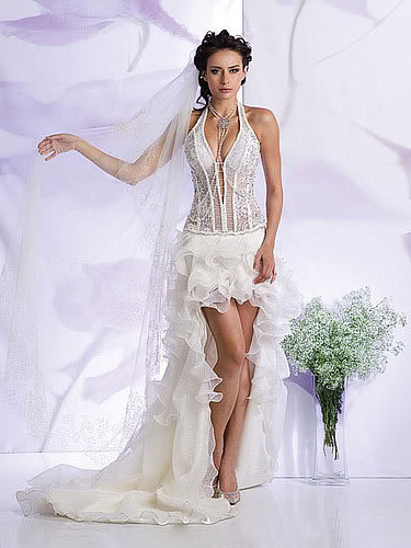 Fossils antiques sexy white wedding dresses for Sexy corset wedding dress