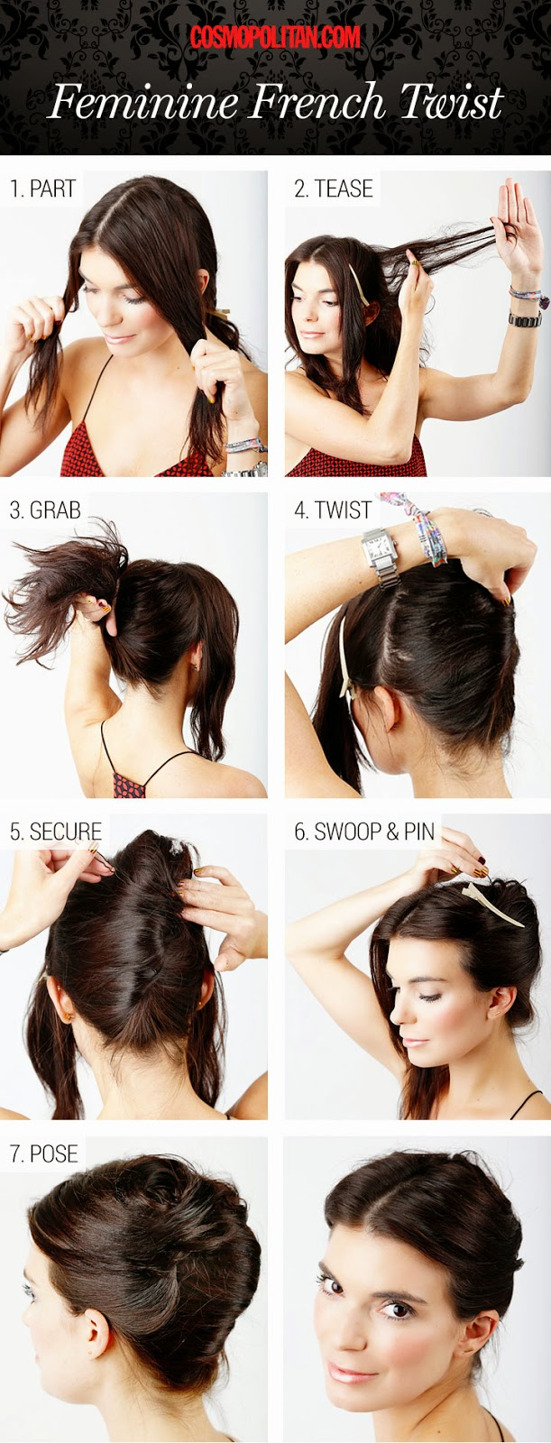french twist hairstyle hair tutorial. Amazingly easy to make french twist hairstyle. French twist hair tutorial
