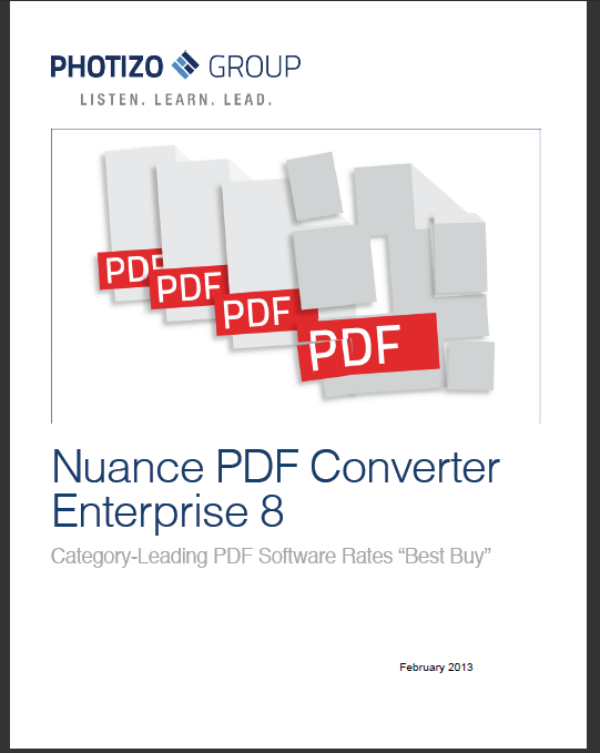 Jim Lyons Observations: Nuance PDF Converter analysis now