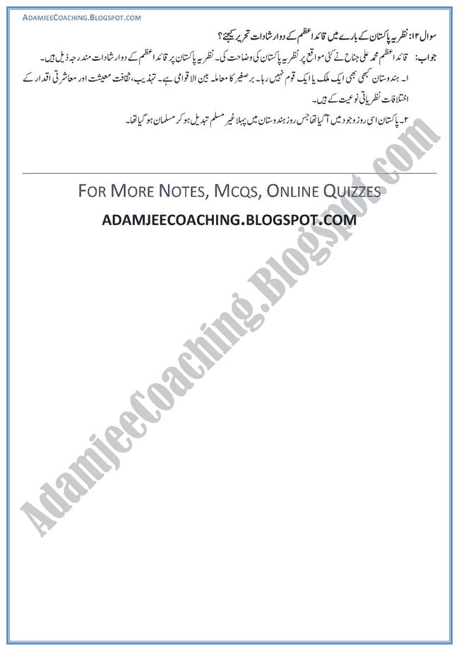 Ideological-Basis-of-Pakistan-Short-Question-Answers-Pakistan-Studies-Urdu-IX