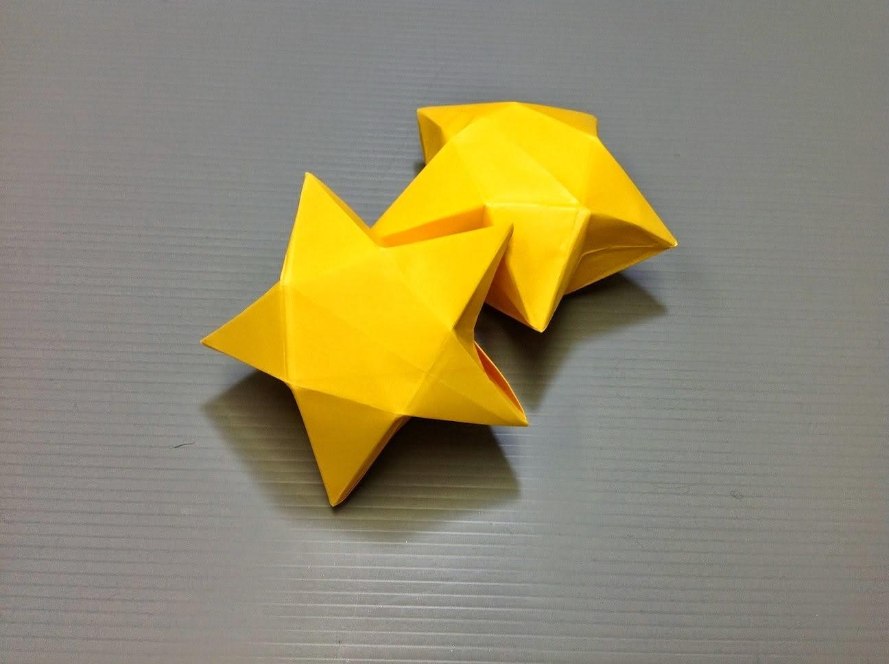pudełko gwiazdka origami
