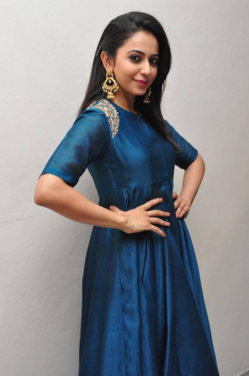 Rakul Preet Singh Looks Spicy In Colorful Blue Dress