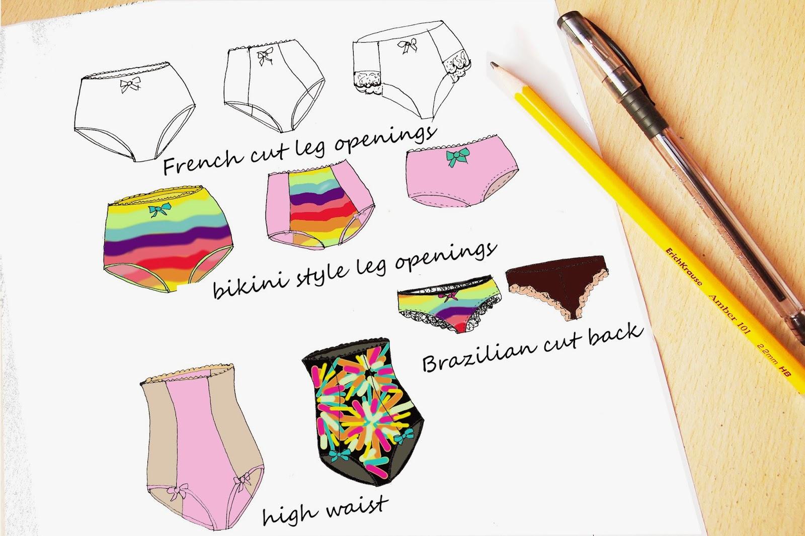 Panties styles already sewn