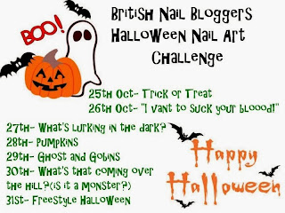 British Nail Bloggers Halloween Nail Art Challenge