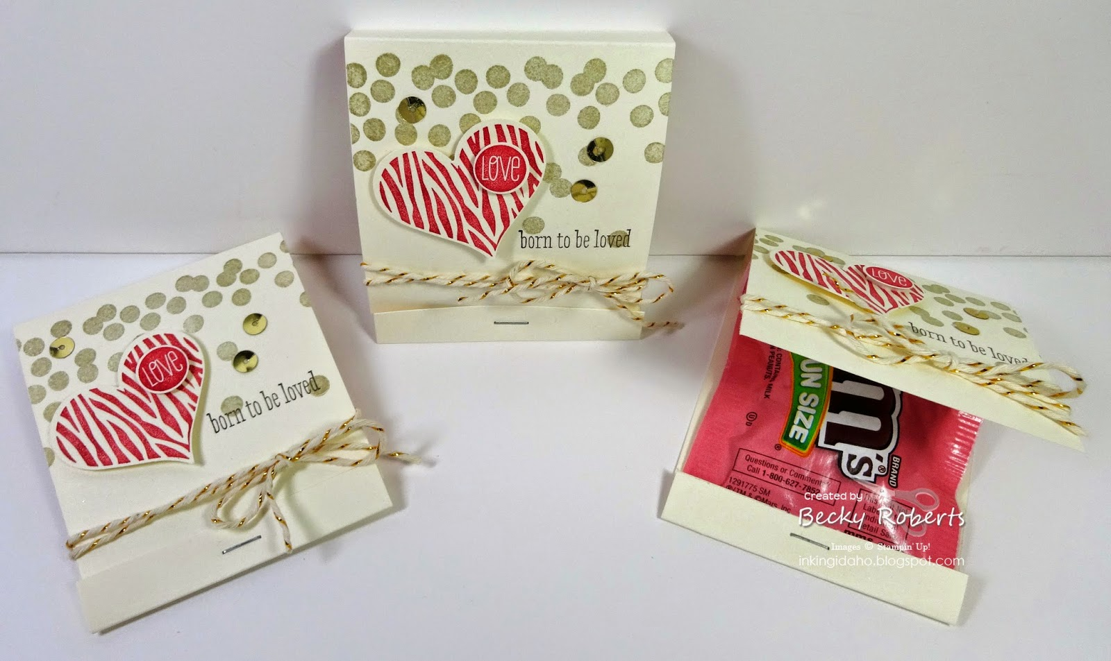 Inking Idaho: Groovy Love Valentine Candy Matchbooks