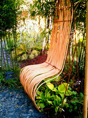 garden, bench,