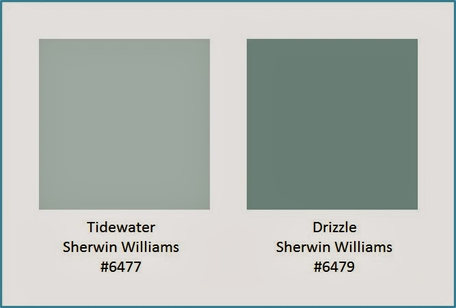 Paint Colors - Tidewater and Drizzle by Sherwin Williams
