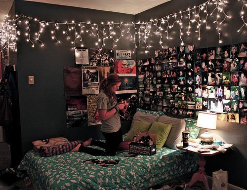 Inrichten Slaapkamer Spelletjes : Tumblr Rooms Christmas Lights