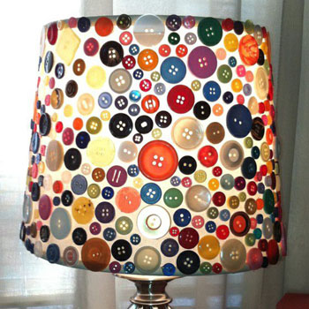 As lamp decorate with buttons