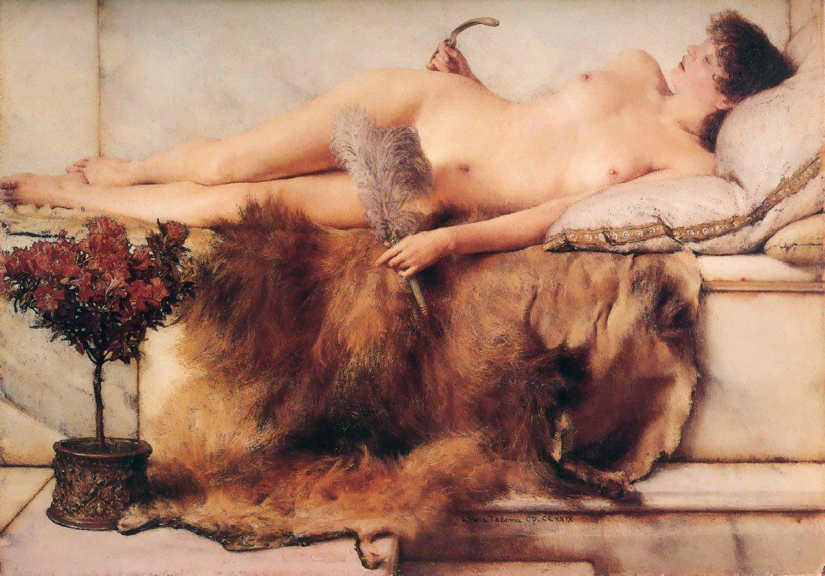 alma-tadema tepiderium painting