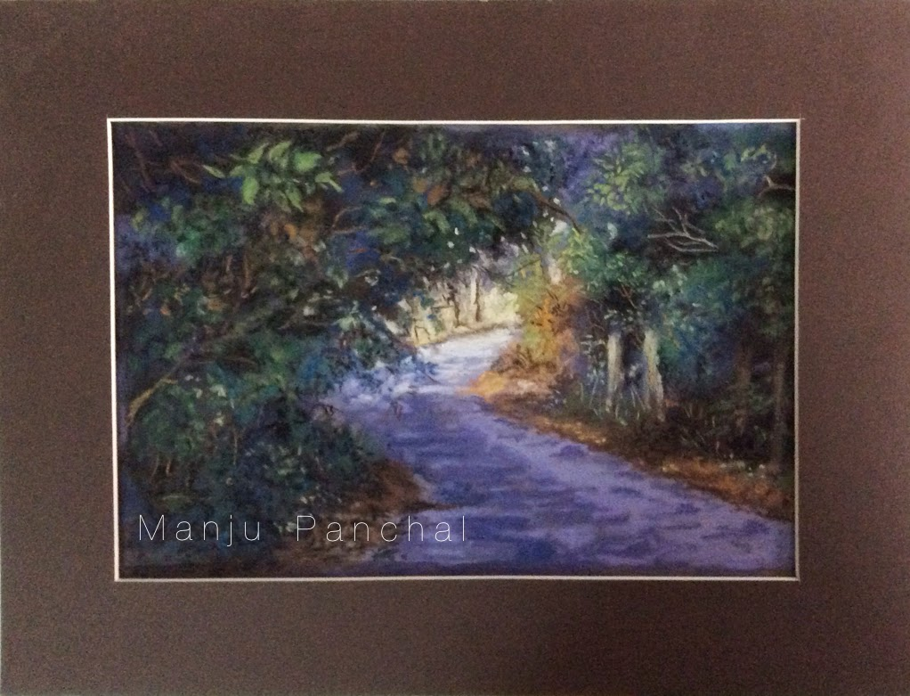 landscape painting in soft pastels by manju panchal