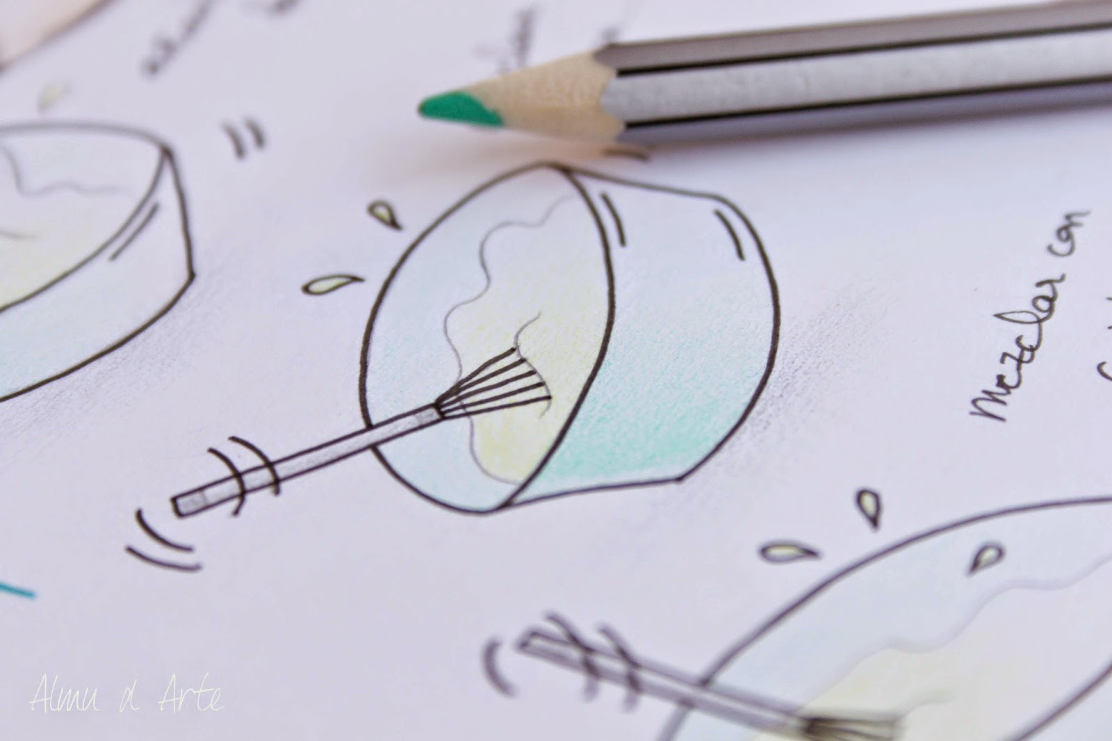 Dibujo para ilustrar una receta