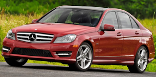 2012 Mercedes-Benz C-Class red sedan