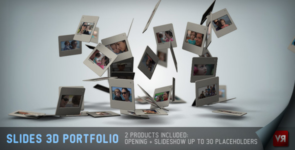 VideoHive Slides 3D - Portfolio And Opening