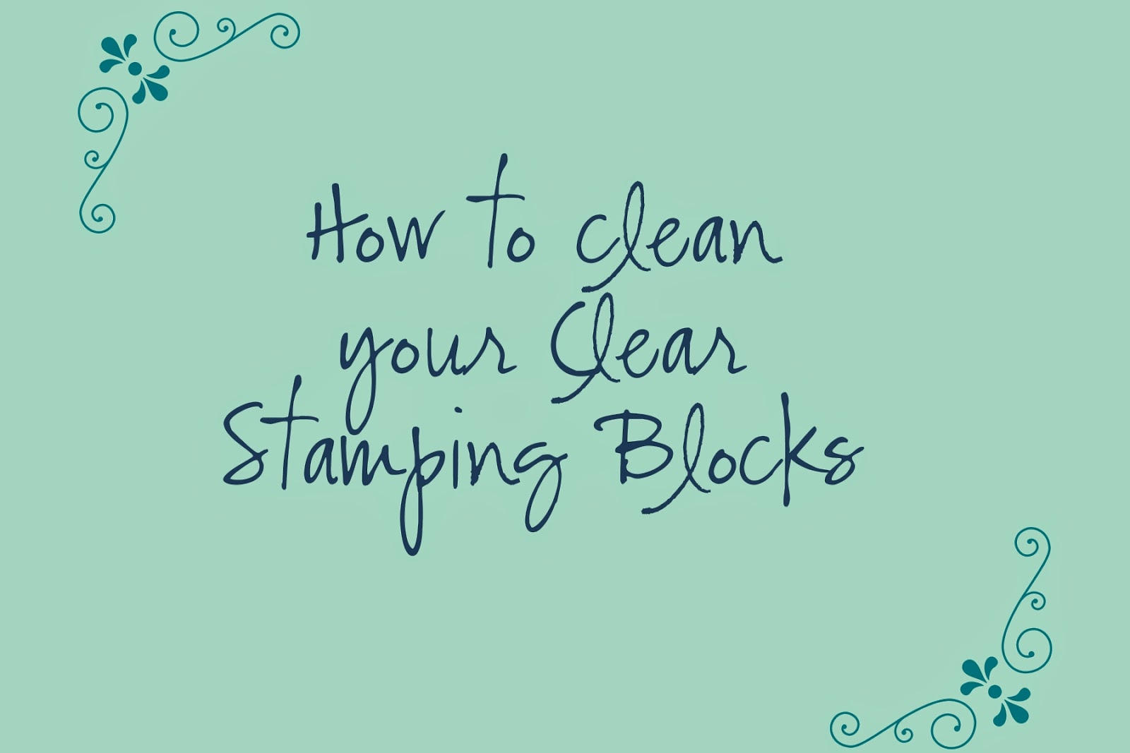 Click here for a video tutorial on how to clean your Clear Mount Stamping Blocks