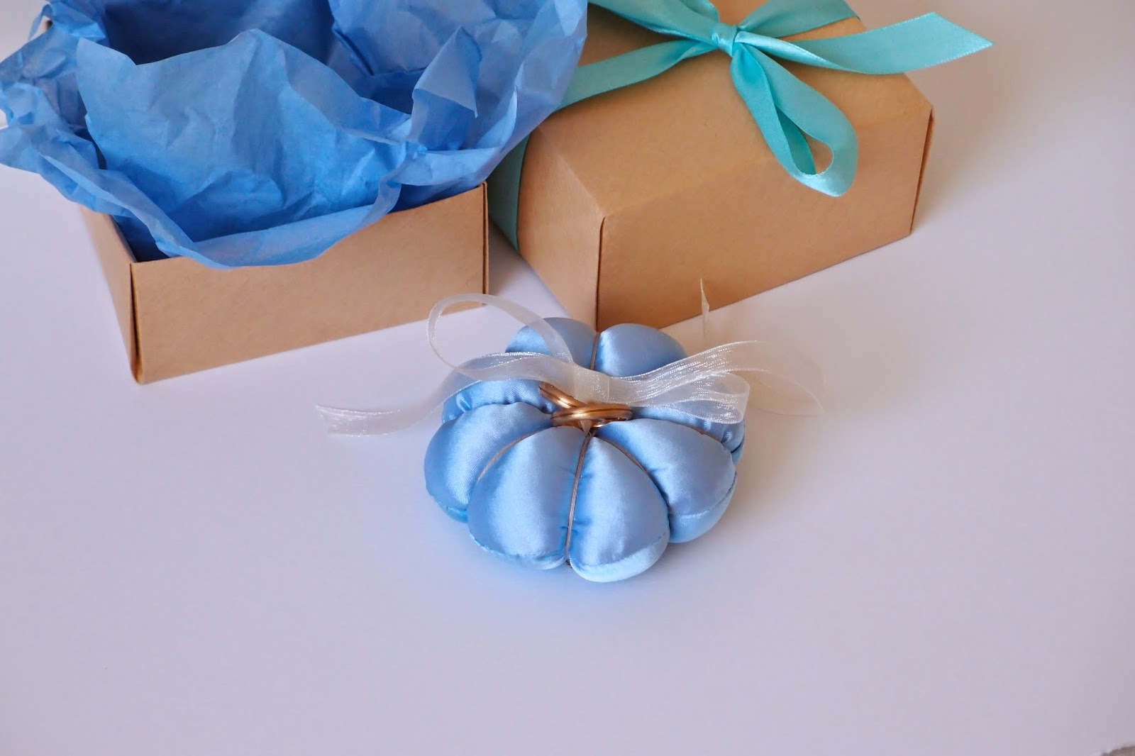 something blue wedding rings cushion