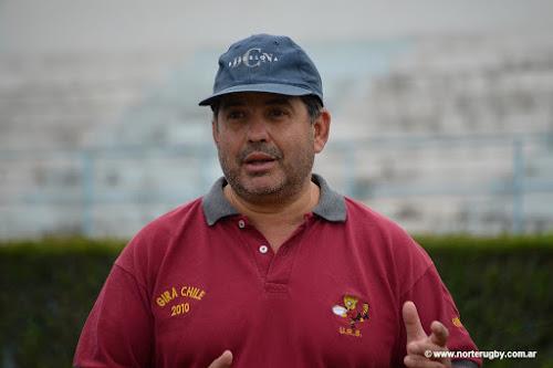 Javier -Petaco- Román, entrenador del seleccionado juvenil de la URS