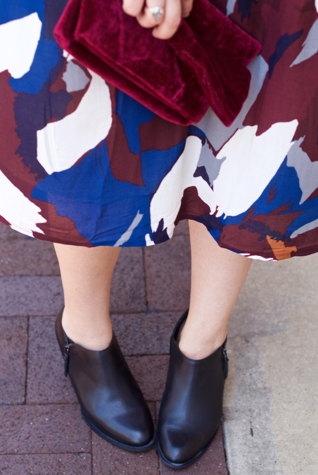 how to wear booties with a dress