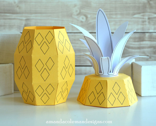 Bright Paper Pineapple Boxes